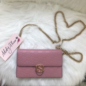 Gucci crossbody bag wallet on chain